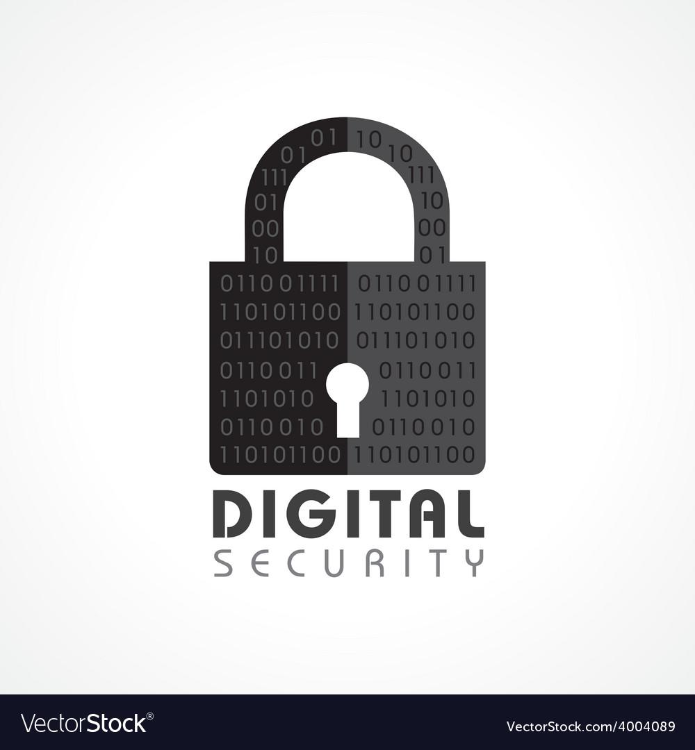 Digital security concept vector | Price: 1 Credit (USD $1)