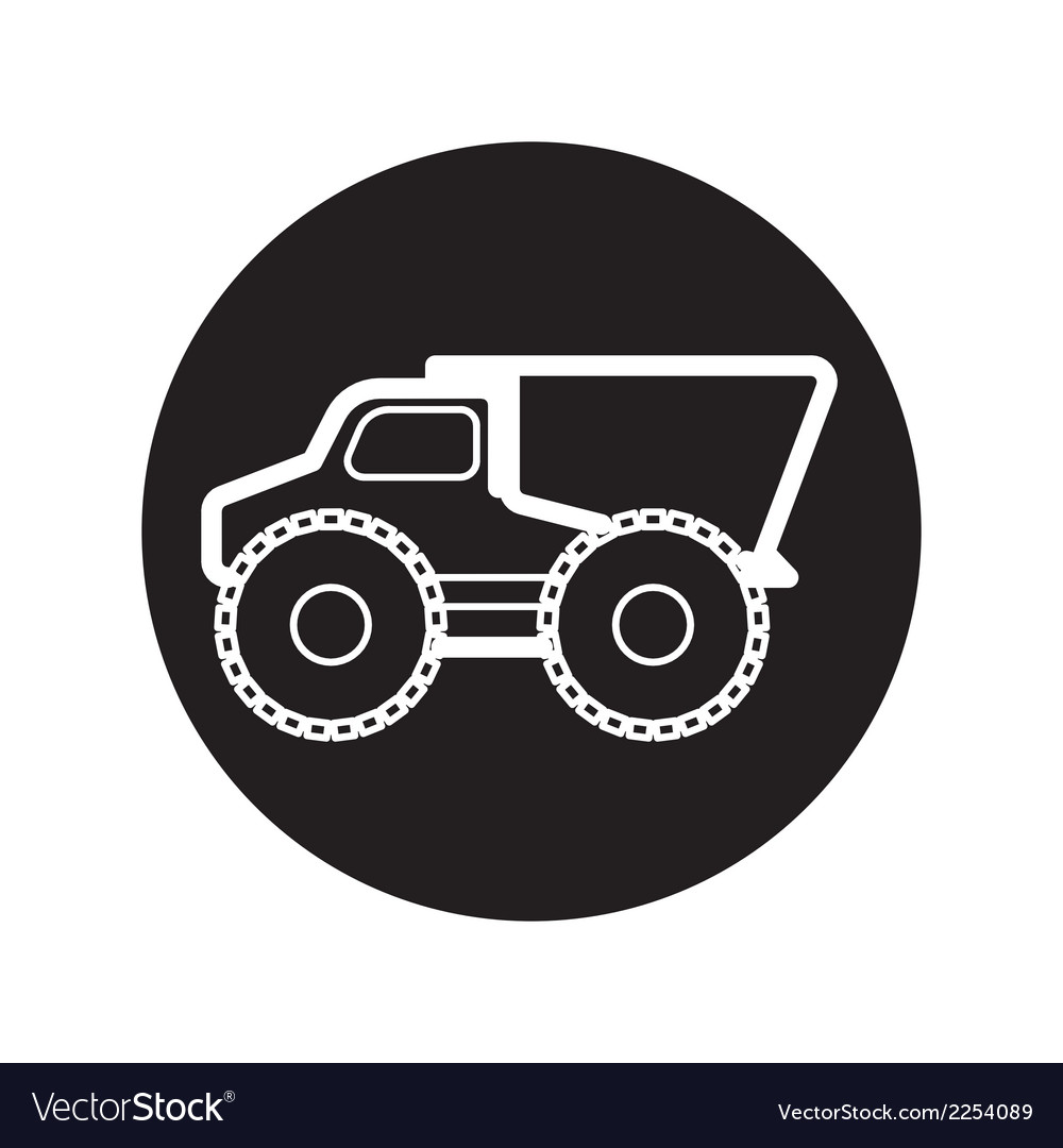 Dump truck icons vector | Price: 1 Credit (USD $1)