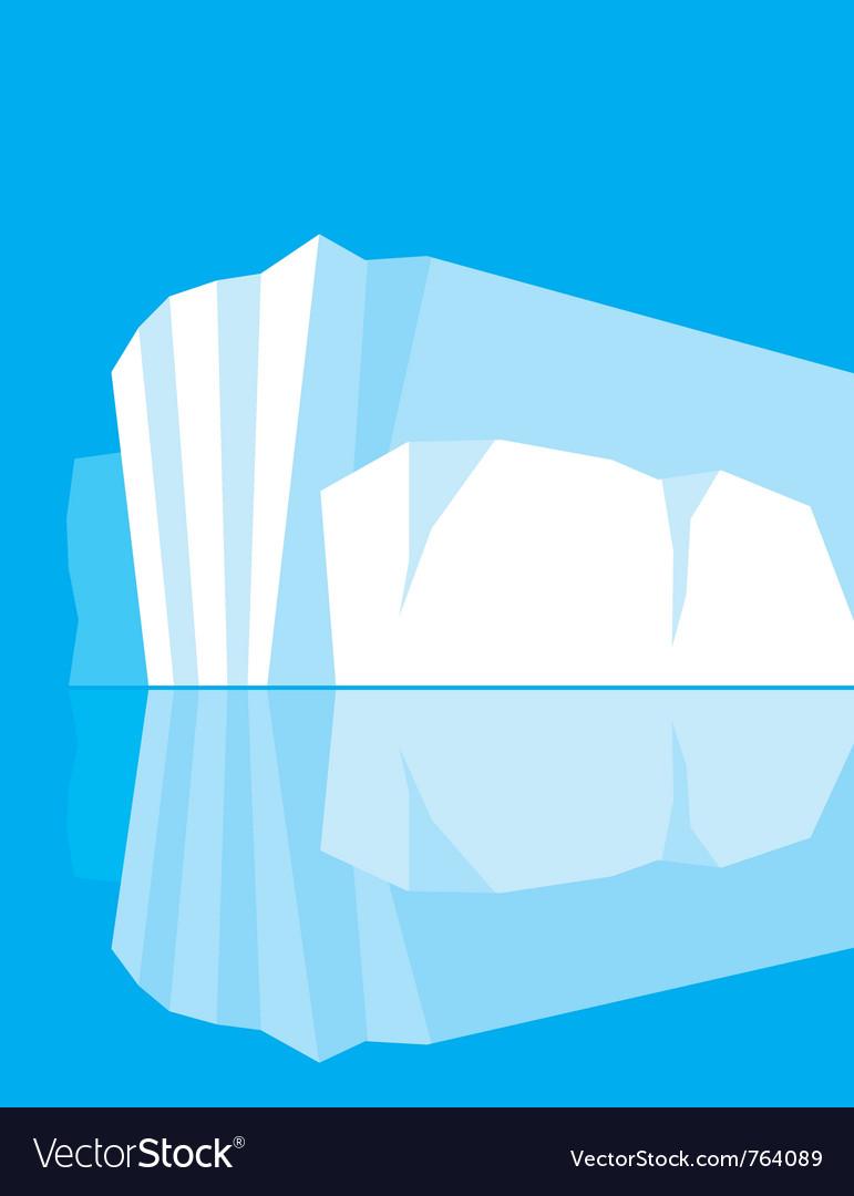 Glacier vector | Price: 1 Credit (USD $1)
