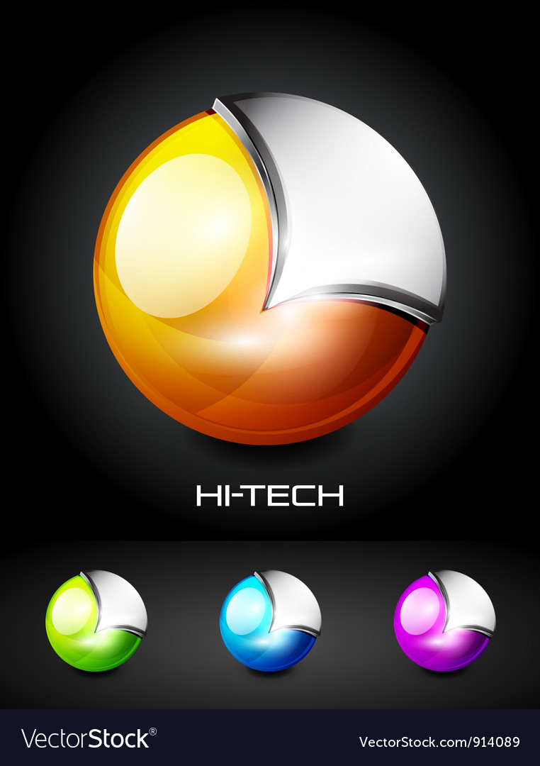 Hi-tech 3d sphere icon vector | Price: 1 Credit (USD $1)