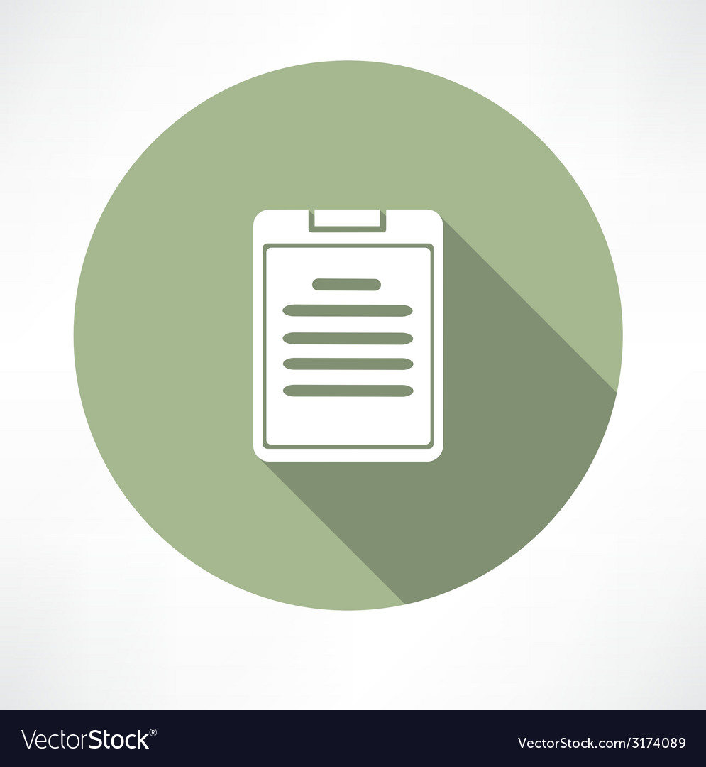 Notes document icon vector | Price: 1 Credit (USD $1)