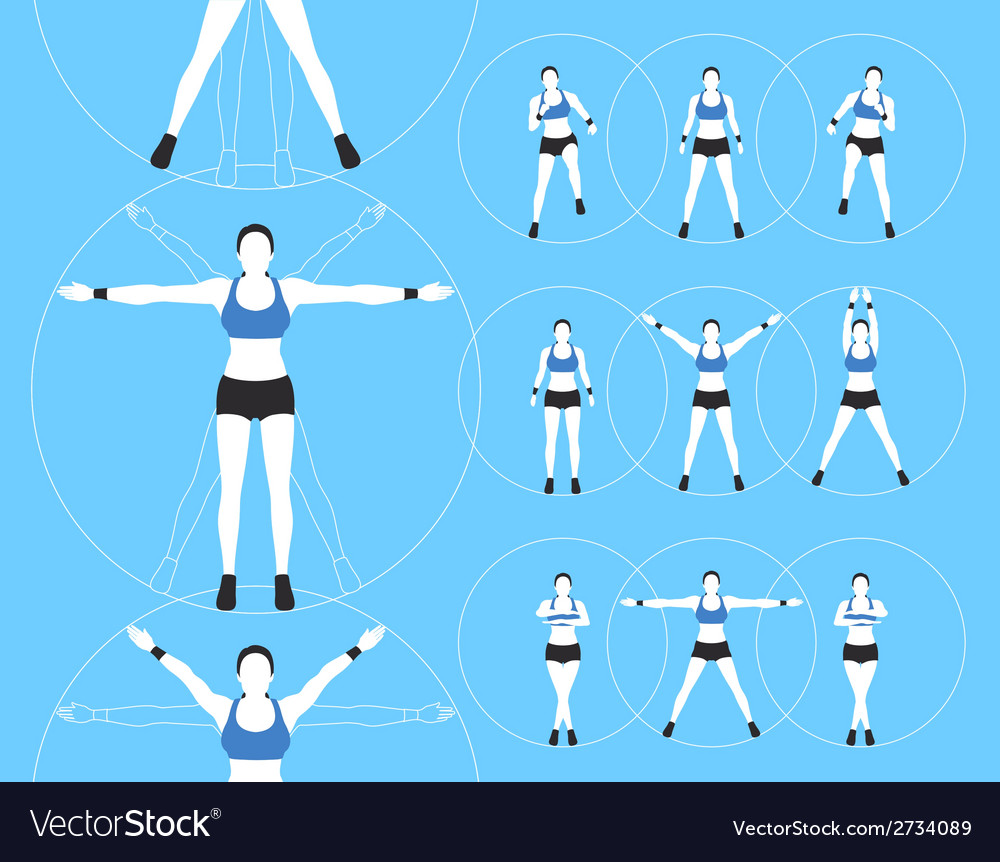Woman fitness vector | Price: 1 Credit (USD $1)
