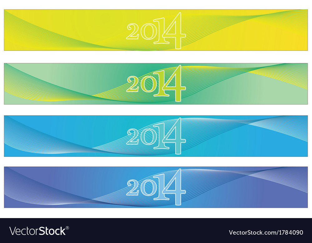 2014 banners vector | Price: 1 Credit (USD $1)