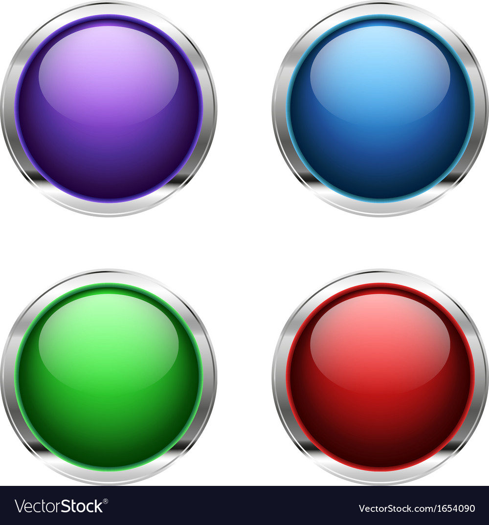 Abstract empty glossy buttons vector | Price: 1 Credit (USD $1)