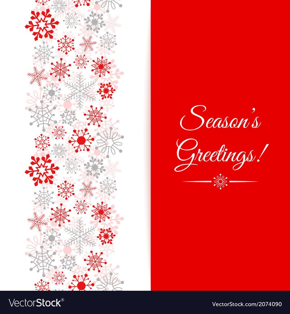 Christmas greetings card border christmas seamless vector | Price: 1 Credit (USD $1)