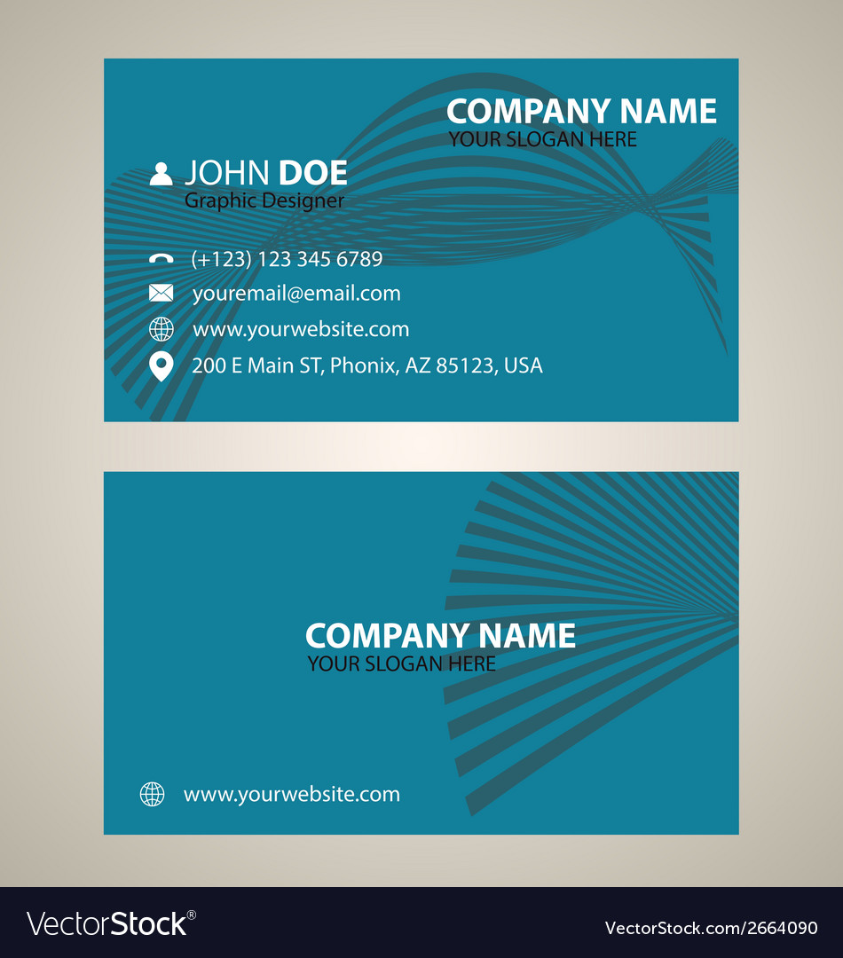 Corporate business card v 6 vector | Price: 1 Credit (USD $1)