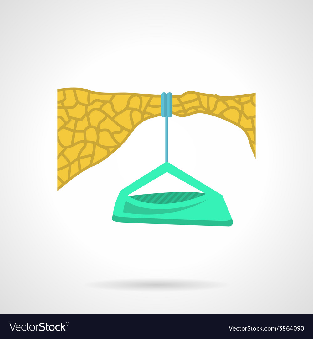 Flat color icon for dangle camp vector | Price: 1 Credit (USD $1)