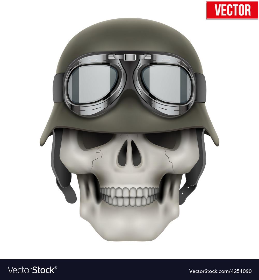 Human skulls with german army helmet vector | Price: 1 Credit (USD $1)