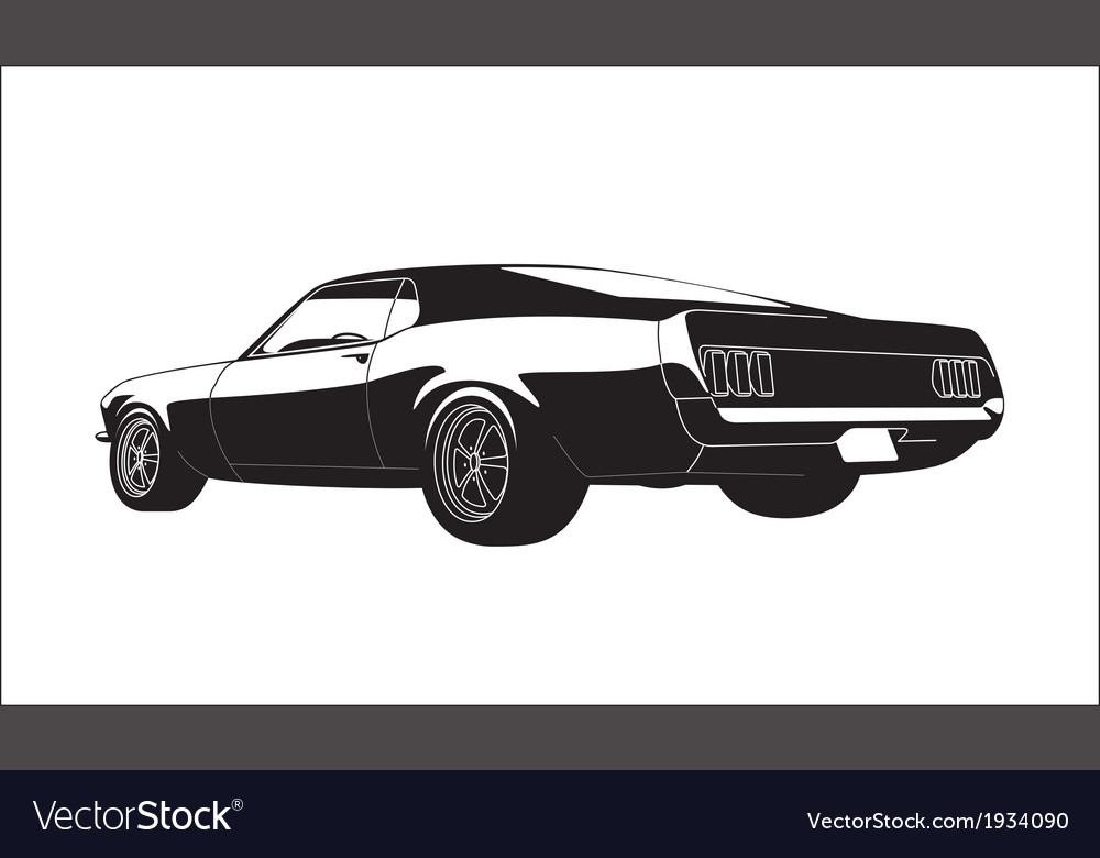Muscle car vector | Price: 1 Credit (USD $1)