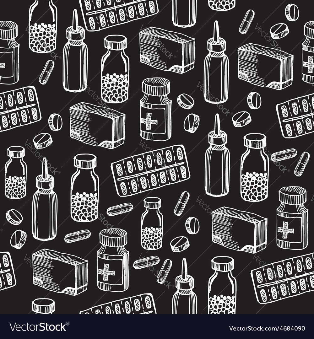 Seamless pattern background medical equipment vector | Price: 1 Credit (USD $1)