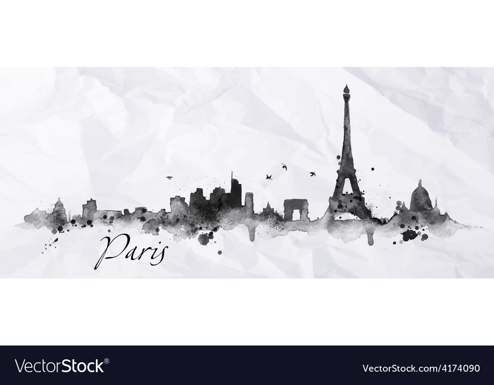 Silhouette ink paris vector | Price: 3 Credit (USD $3)
