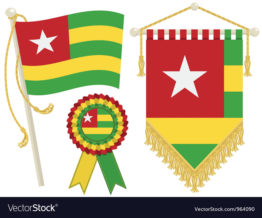 Togo flags vector | Price: 1 Credit (USD $1)