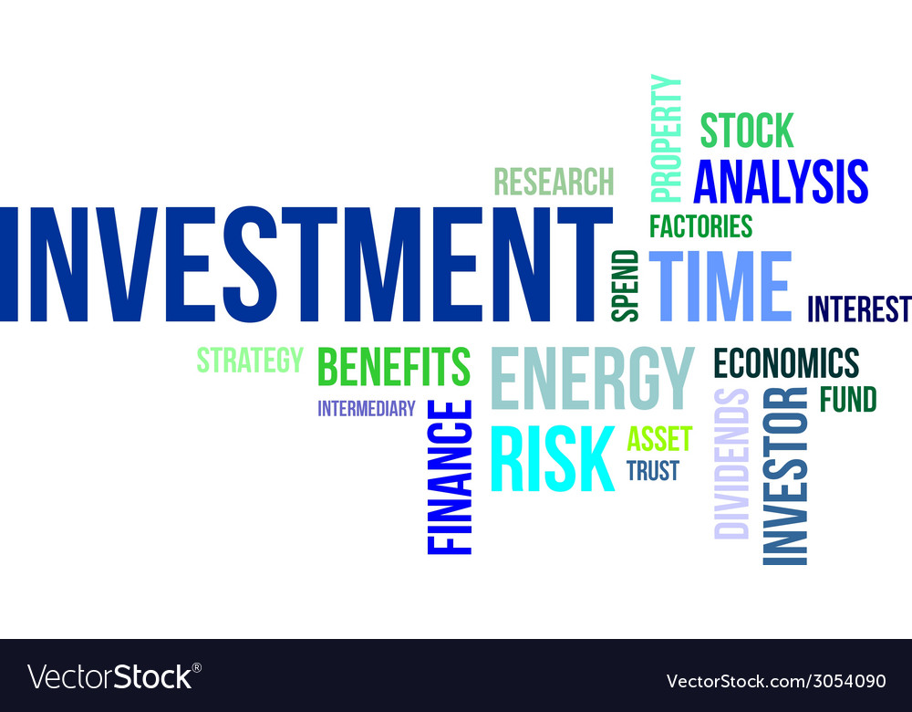 Word cloud investment vector | Price: 1 Credit (USD $1)