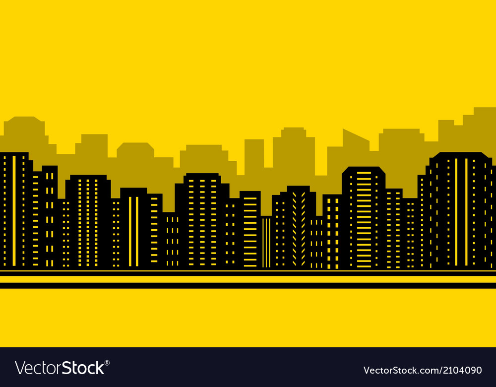 Yellow city backdrop vector   Price: 1 Credit (USD $1)