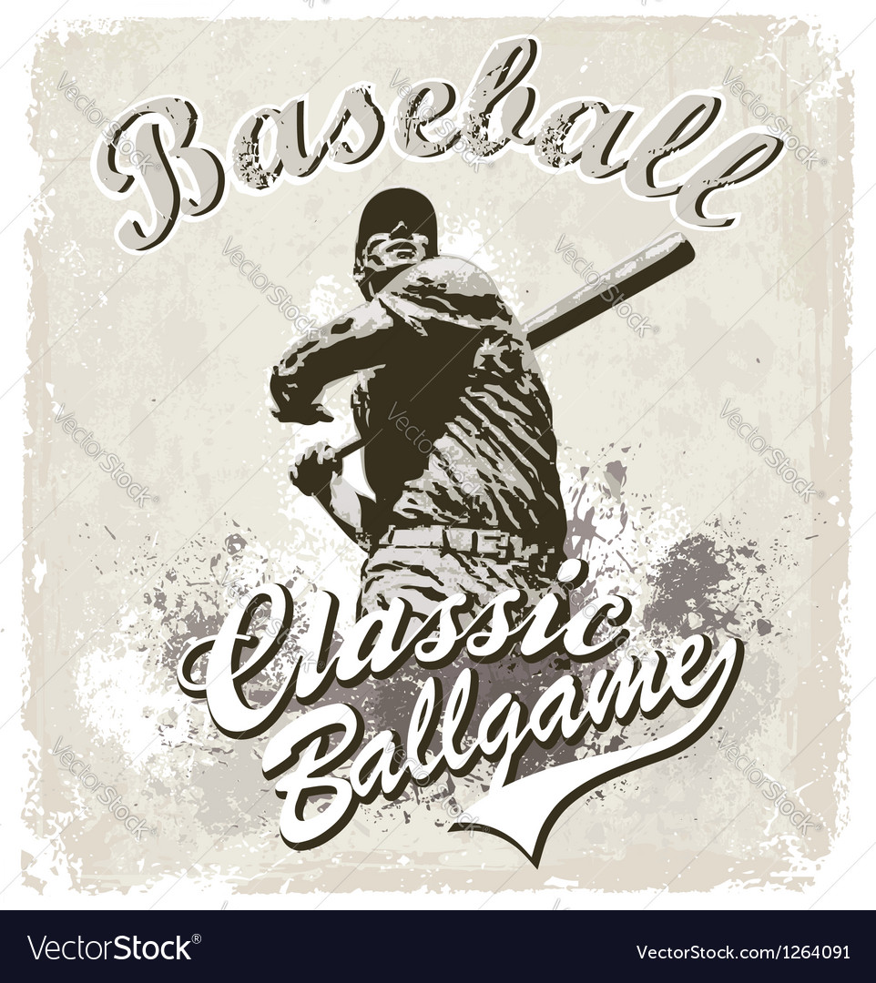 Baseball classic vector | Price: 1 Credit (USD $1)