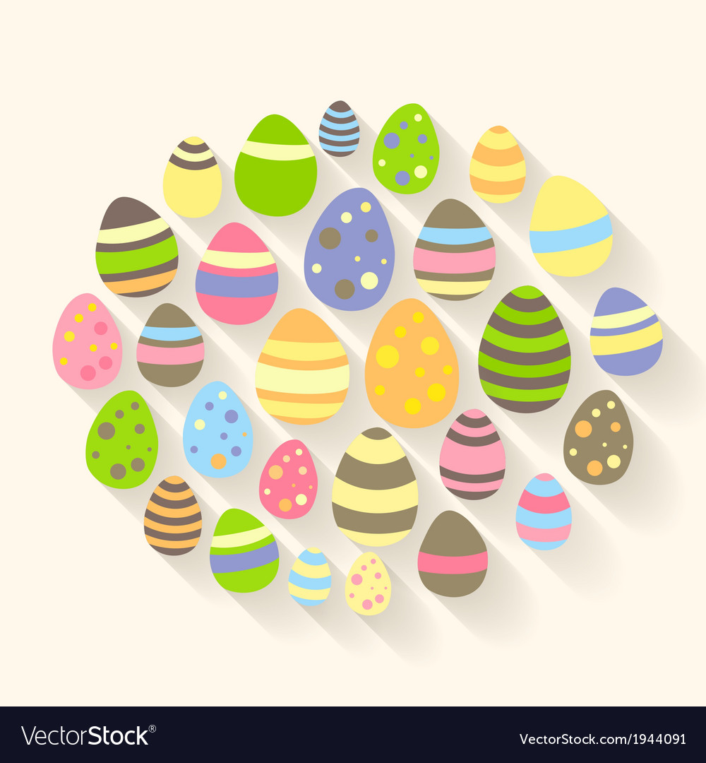 Easter eggs icons vector | Price: 1 Credit (USD $1)