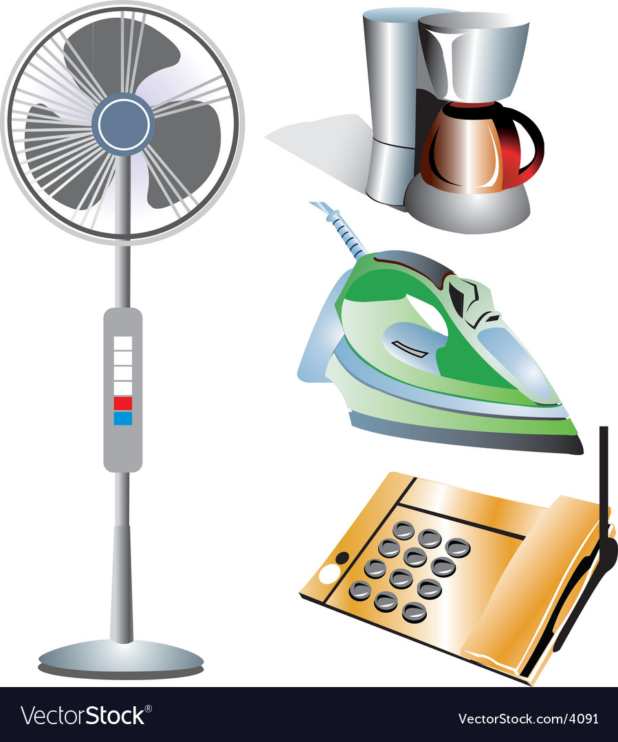 Home appliances vector | Price: 3 Credit (USD $3)