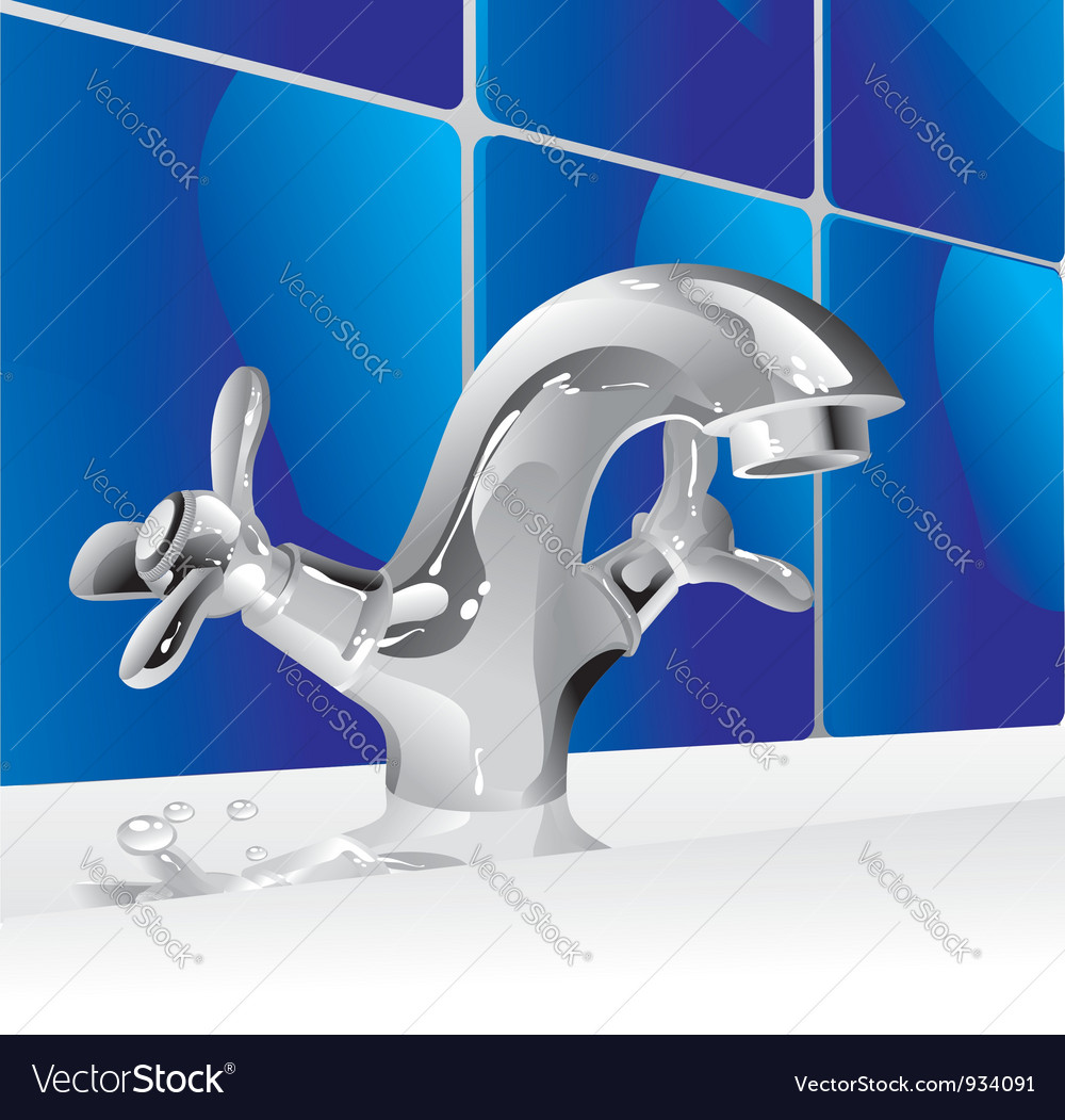 Metal water faucet vector | Price: 1 Credit (USD $1)