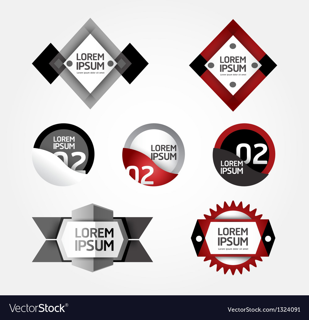 Modern design modern labels can be used for infog vector | Price: 1 Credit (USD $1)