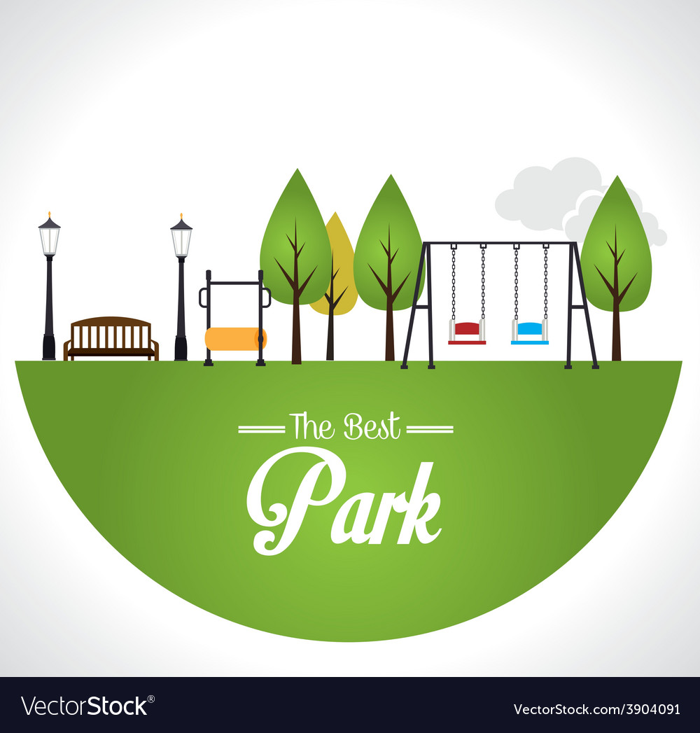 Park design over white background vector | Price: 1 Credit (USD $1)