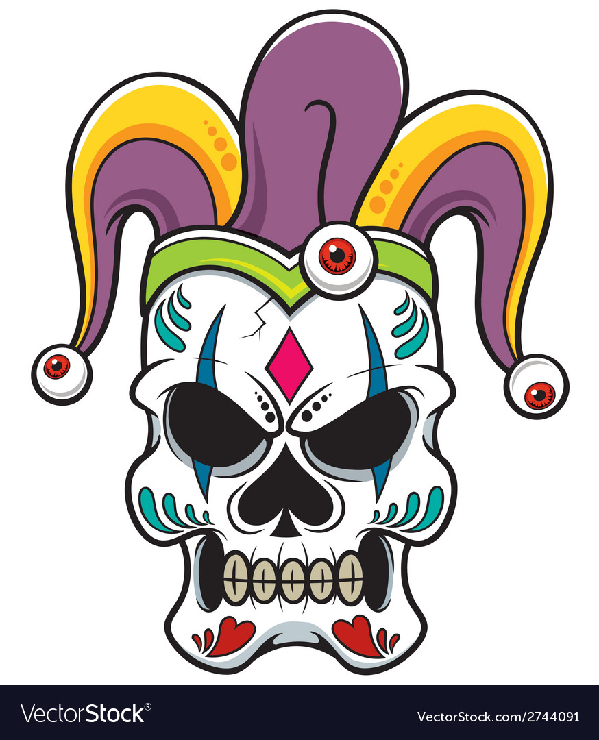Skull joker vector | Price: 1 Credit (USD $1)