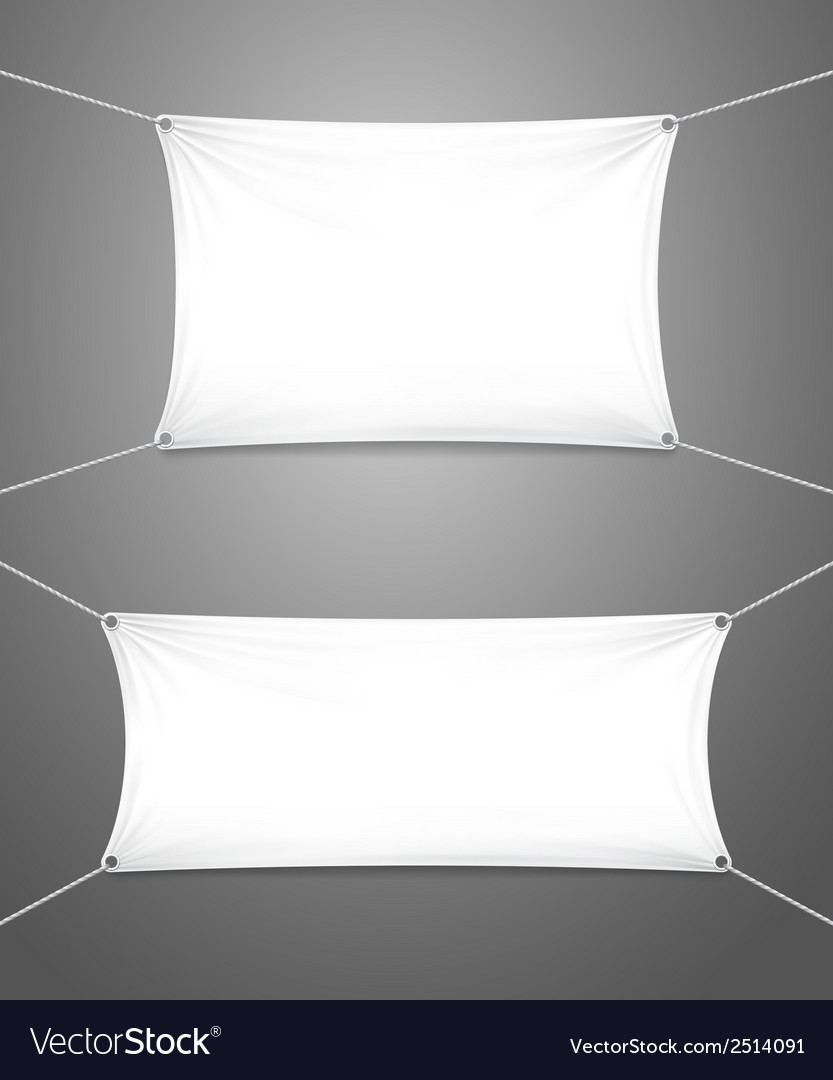 Two blank white banners with copyspace vector | Price: 1 Credit (USD $1)