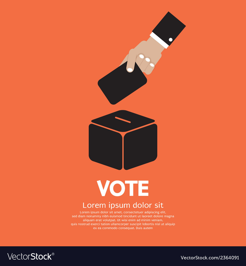 Voting system vector | Price: 1 Credit (USD $1)