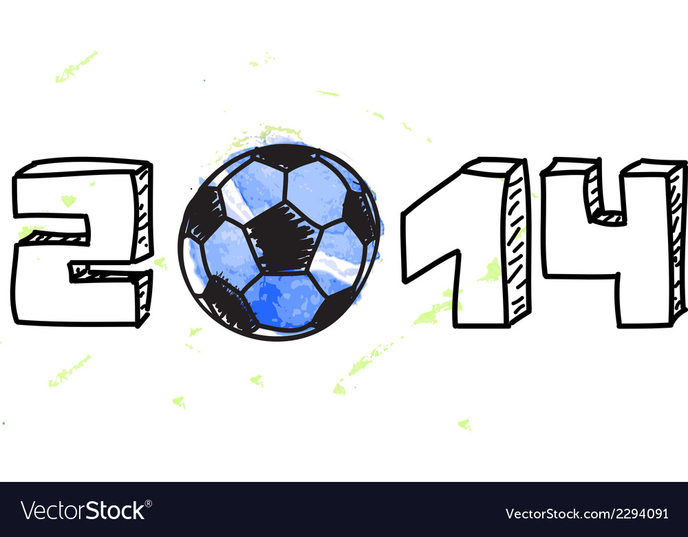 World cup football background vector | Price: 1 Credit (USD $1)