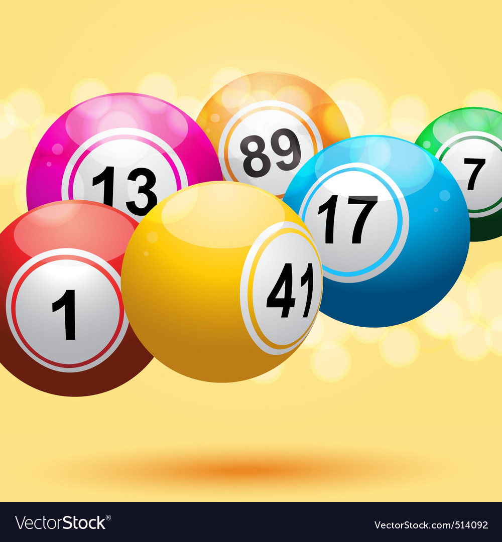 3d bingo ball background vector | Price: 1 Credit (USD $1)