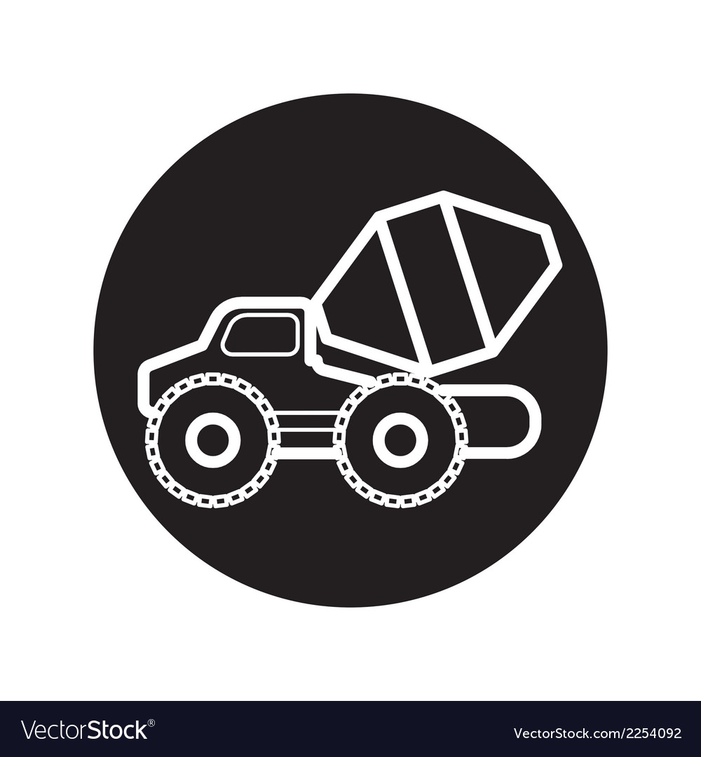 Concrete mixer truck icon vector | Price: 1 Credit (USD $1)