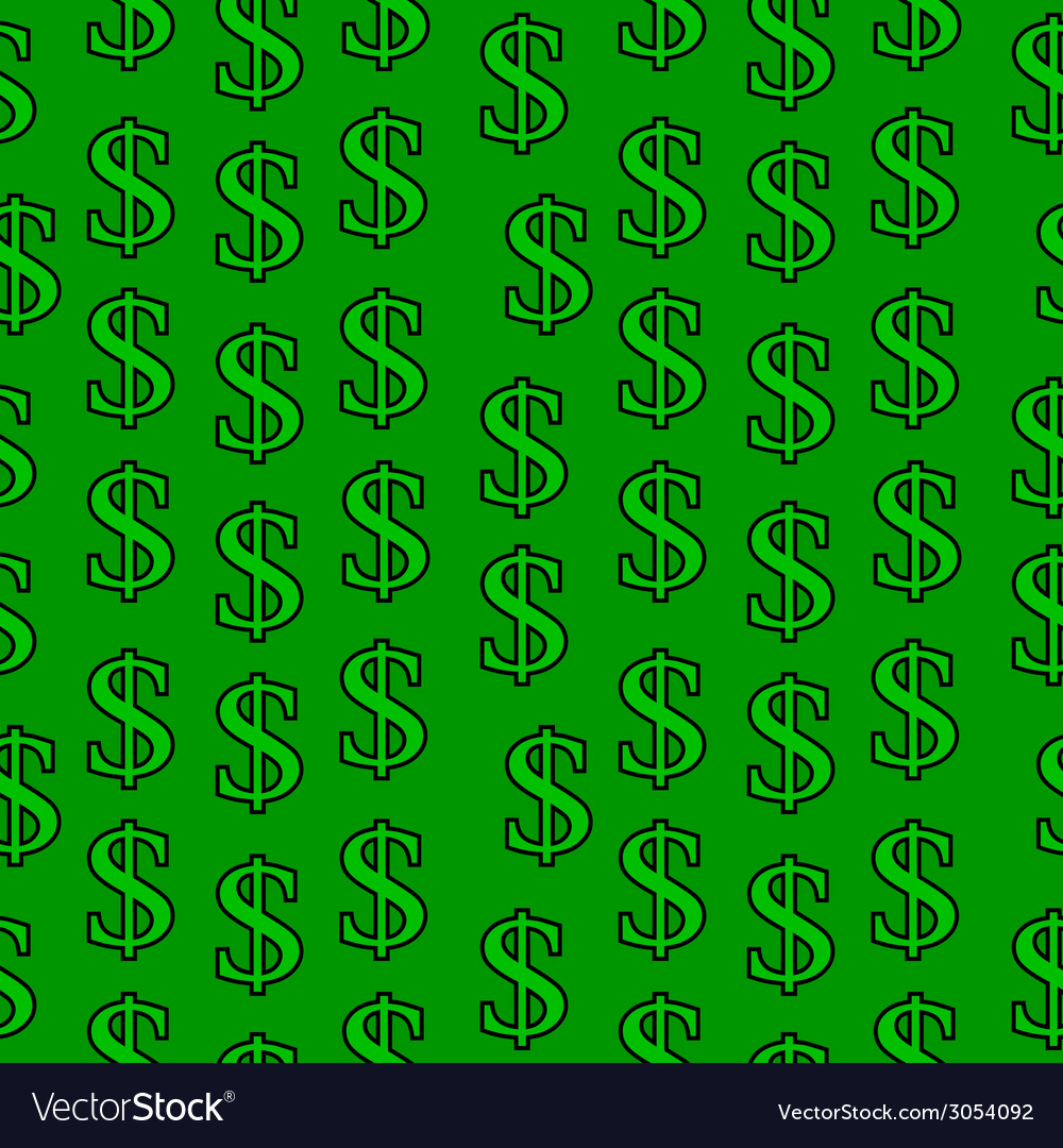 Dollar symbol seamless pattern vector | Price: 1 Credit (USD $1)