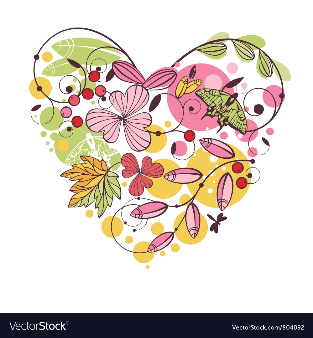 Floral spring card vector | Price: 1 Credit (USD $1)
