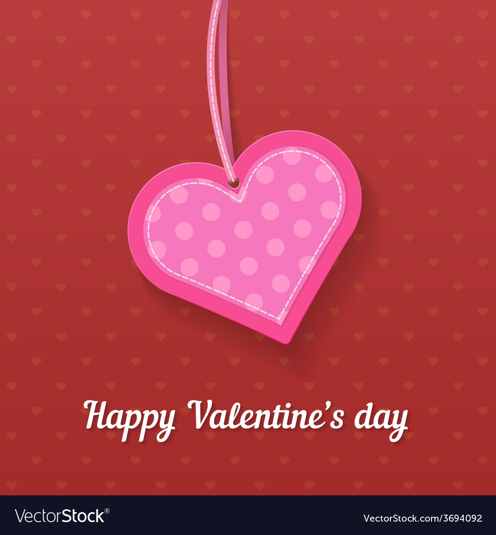 Happy valentines day greating card vector | Price: 1 Credit (USD $1)