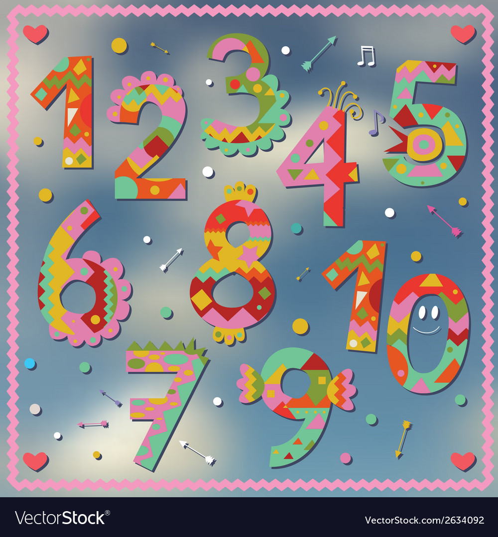 Holiday numbers design vector | Price: 1 Credit (USD $1)