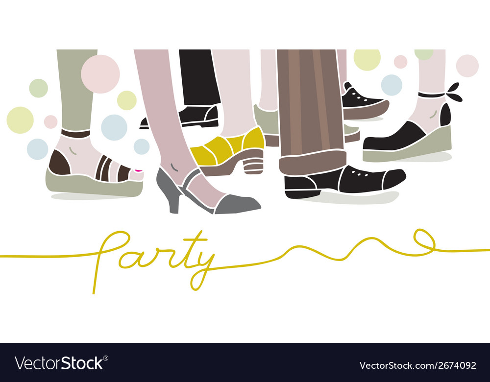 Party scene vector | Price: 1 Credit (USD $1)