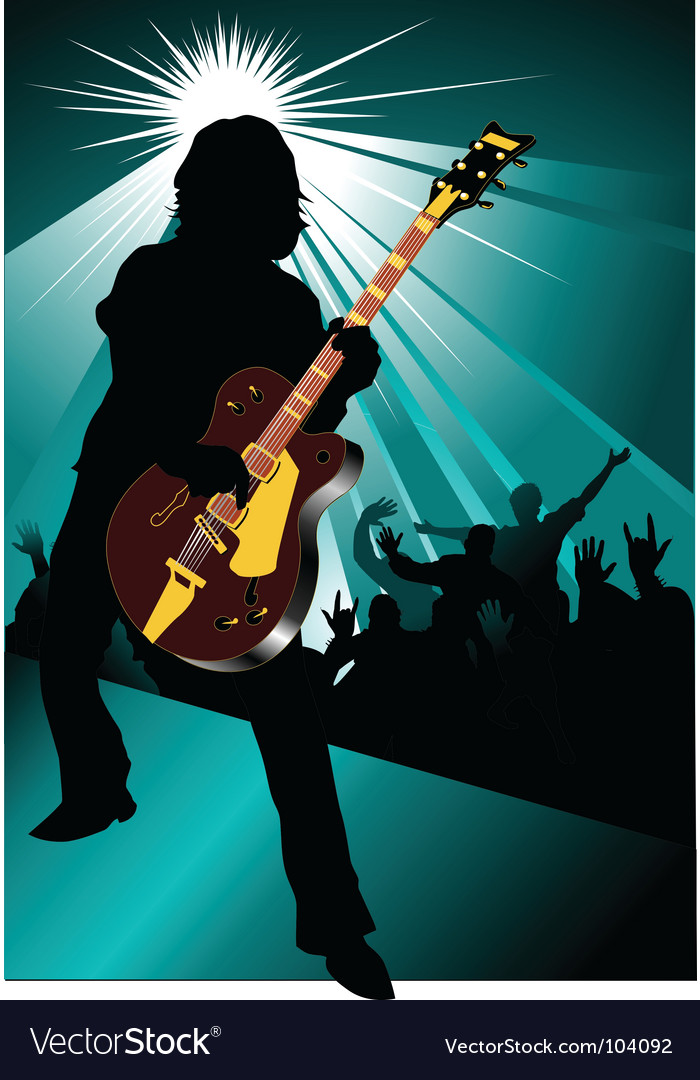 Rock and roll concert vector | Price: 1 Credit (USD $1)