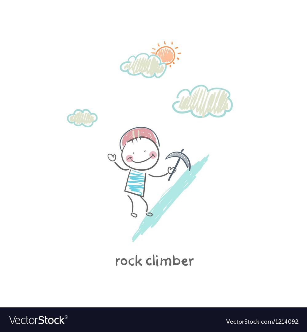 Rock climber vector | Price: 1 Credit (USD $1)