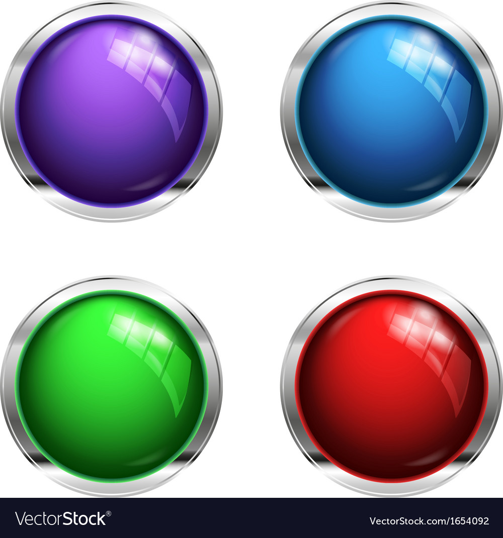 Shiny blank buttons vector | Price: 1 Credit (USD $1)