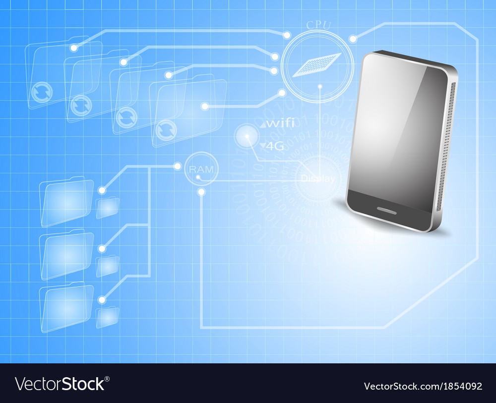 Smartphone technology background vector | Price: 1 Credit (USD $1)