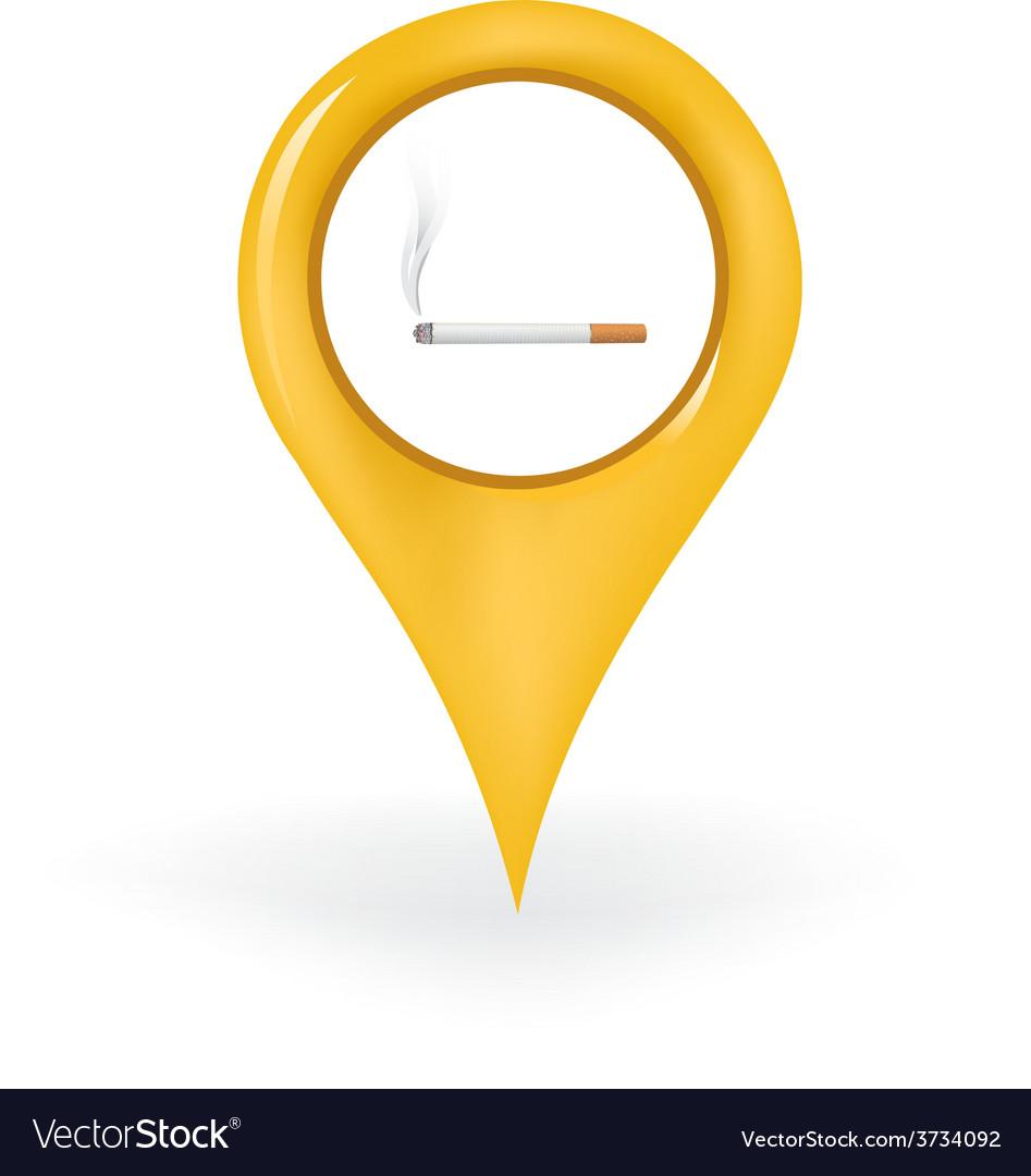 Smoking location vector | Price: 1 Credit (USD $1)