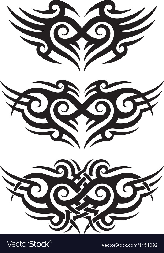 Tribal tattoo design vector | Price: 1 Credit (USD $1)