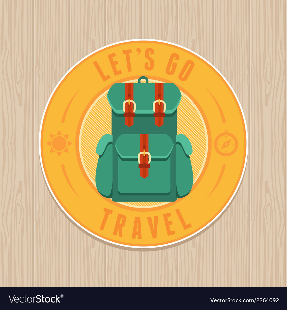 Vintage badge - flat icon travel concept vector | Price: 1 Credit (USD $1)