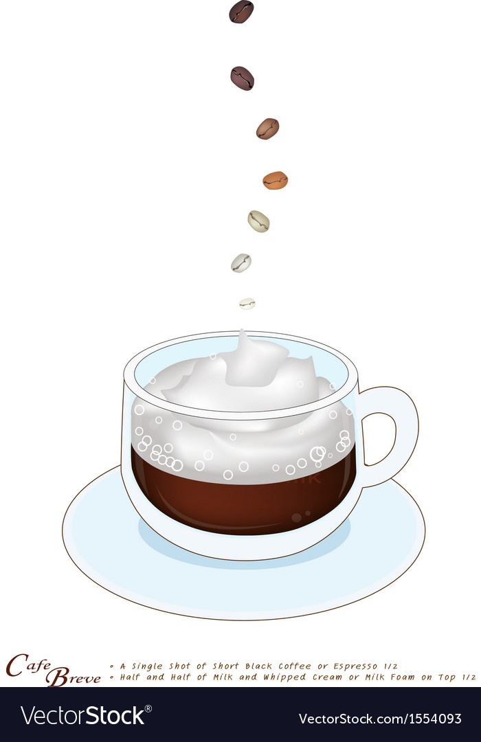 A cup of cafe breve with whipped cream vector | Price: 1 Credit (USD $1)