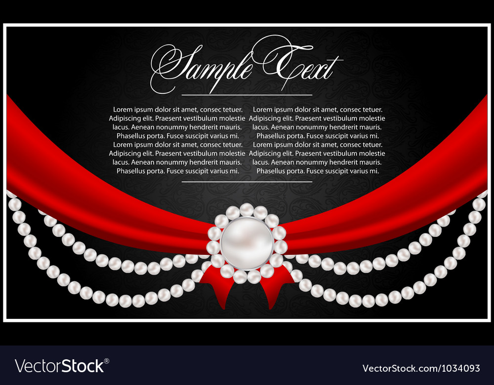 Abstract greeting card with pearls vector | Price: 1 Credit (USD $1)