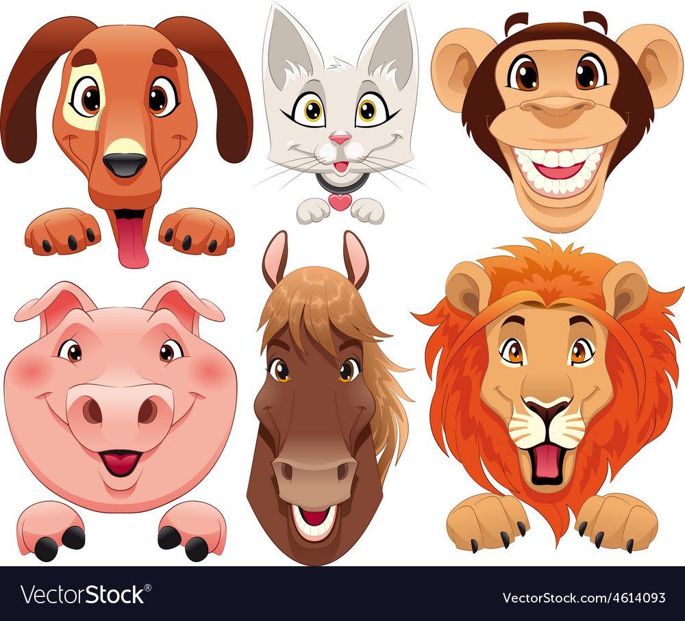Animals portrait vector
