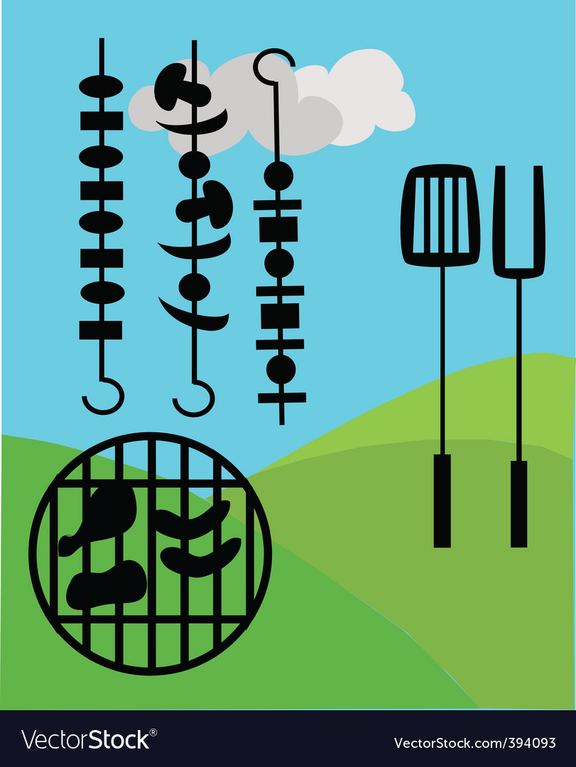 Barbecue foods vector | Price: 1 Credit (USD $1)