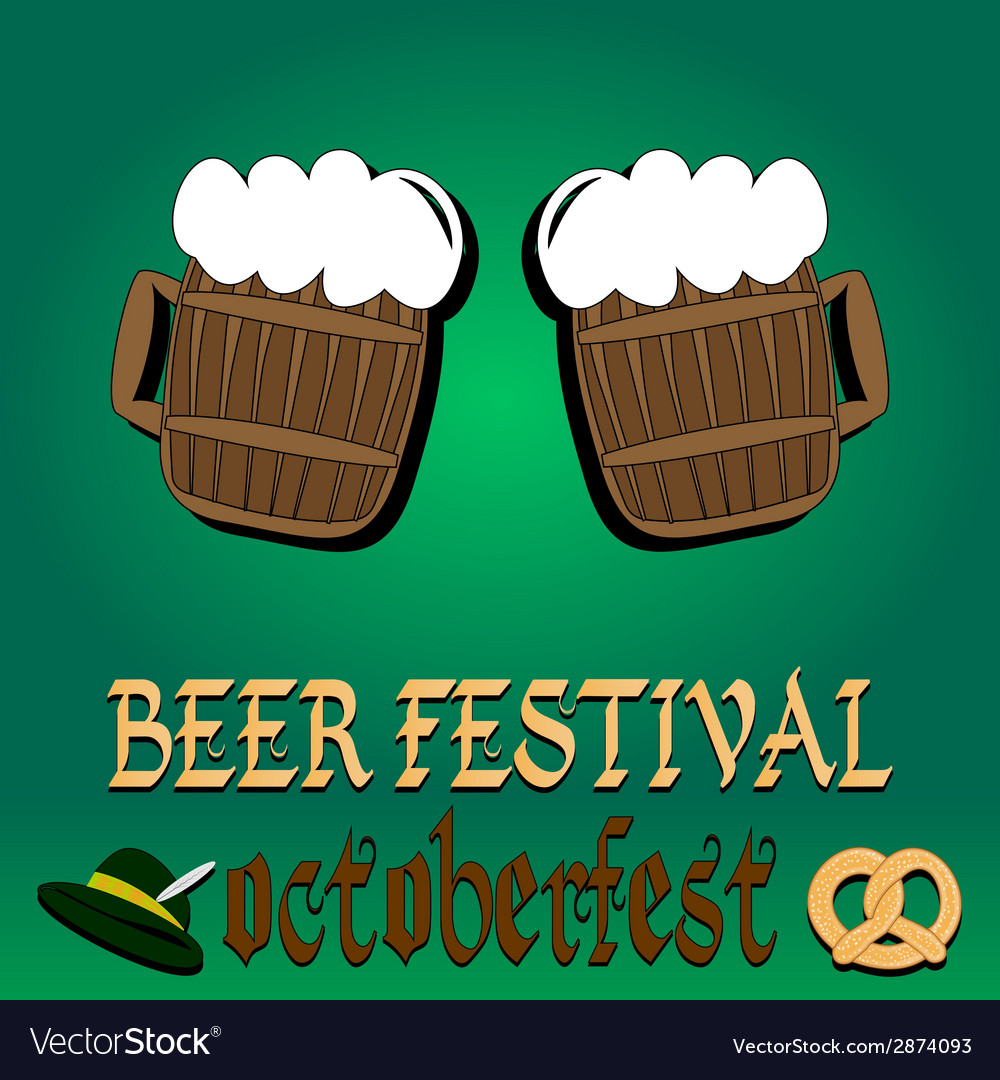 Best traditional fresh cold beer restaurant menu vector | Price: 1 Credit (USD $1)