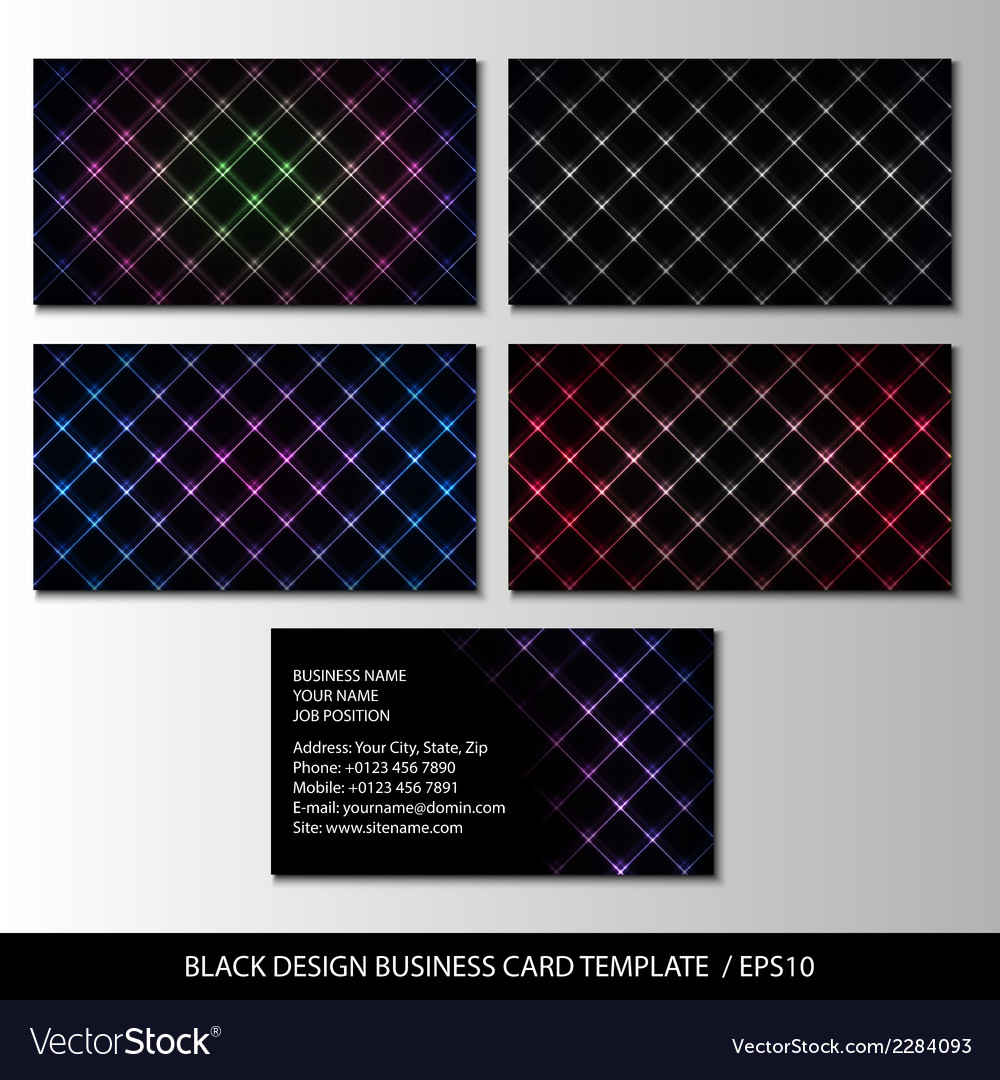 Black design business card template abstract vector | Price: 1 Credit (USD $1)