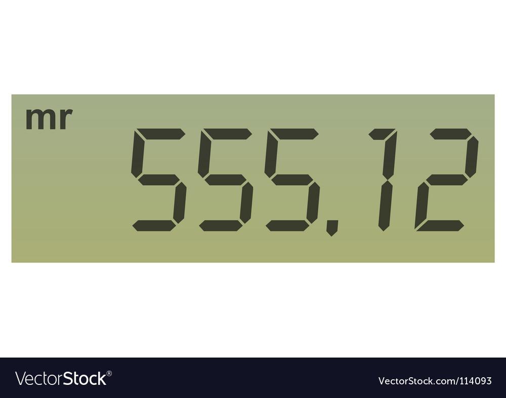 Calculator screen vector   Price: 1 Credit (USD $1)