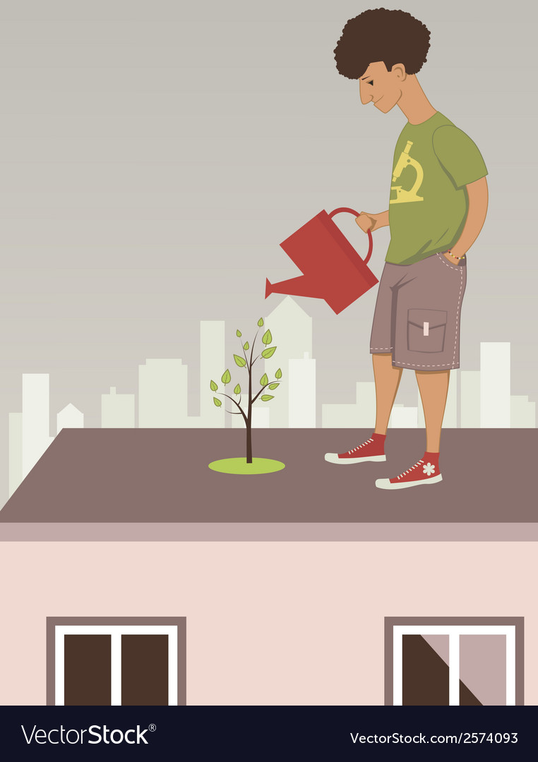 City garden vector | Price: 1 Credit (USD $1)